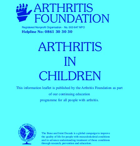 Arthritis in Children. How can they be helped.